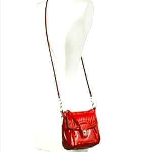 COACH POPPY LIQUID GLOSS GROOVY RED PATENT LEATHER